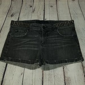 ZARA WOMAN sz 8 charcoal jean shorts